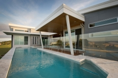 Swimming Pool with Glass Hi light Pebbles